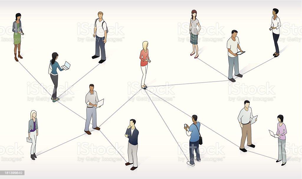 Student Network Illustration vector art illustration