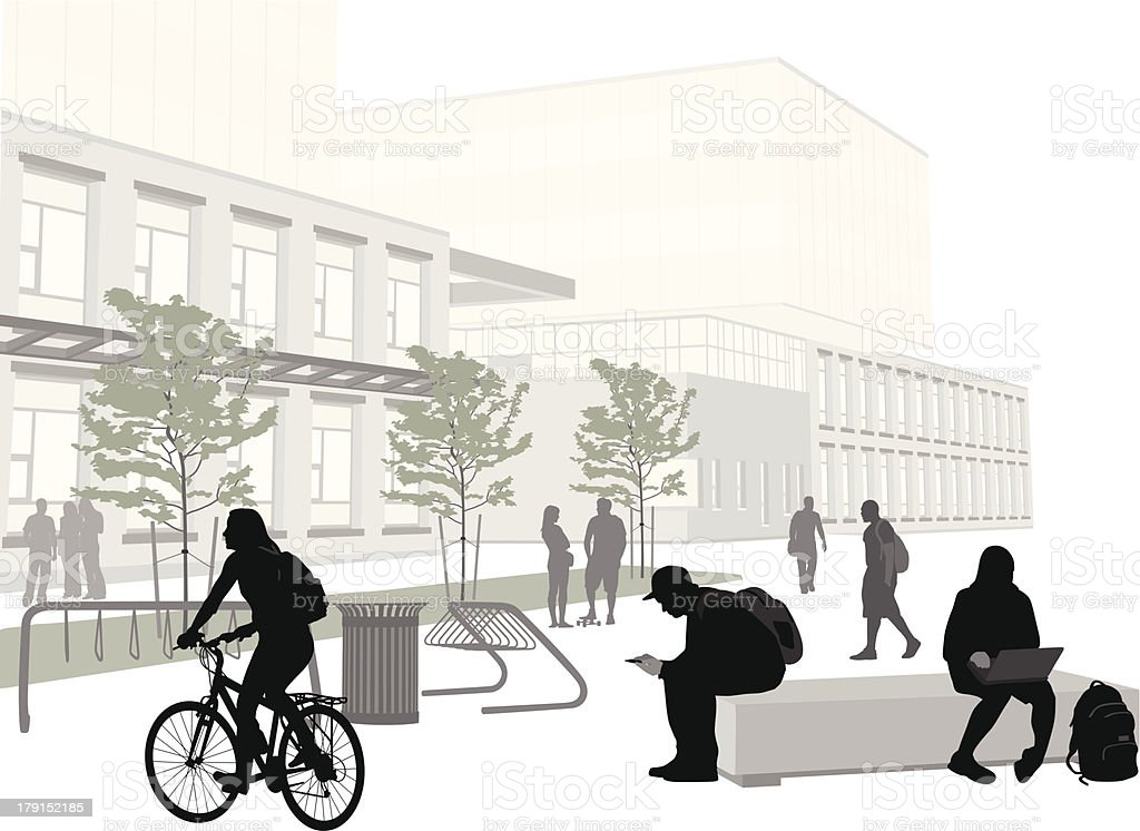 Student Plaza royalty-free stock vector art