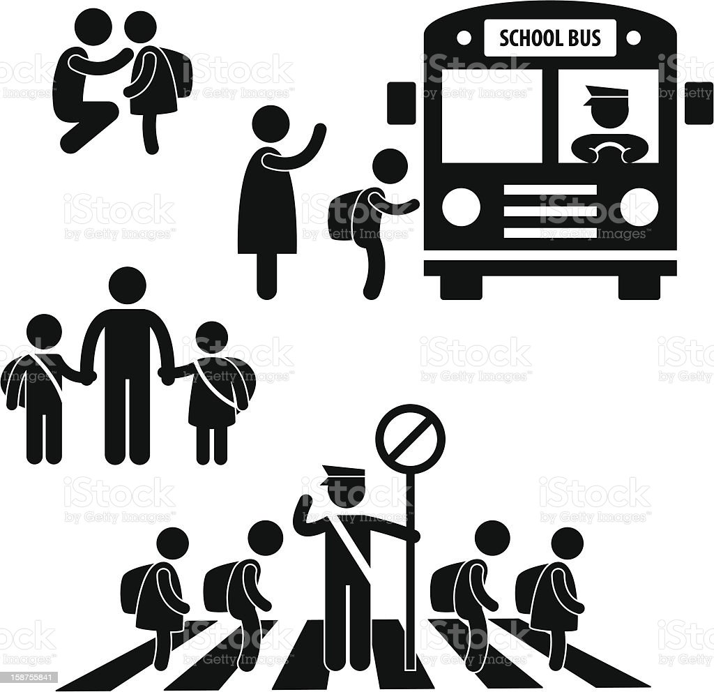 Student Pupil Children Back School Pictogram royalty-free stock photo