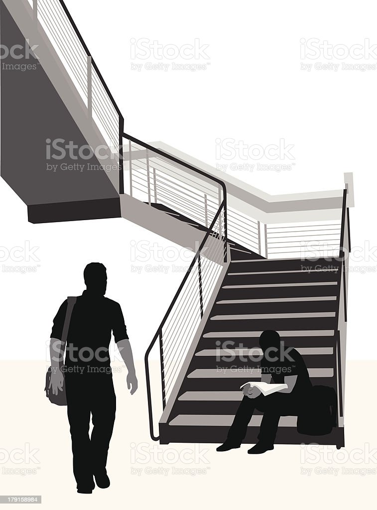 Student Staircase royalty-free stock vector art