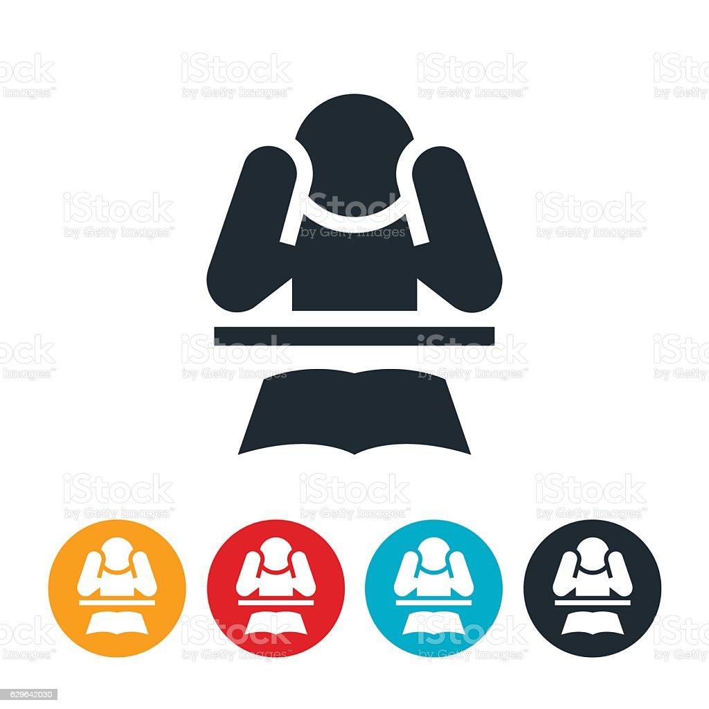 Student Stress Icon vector art illustration