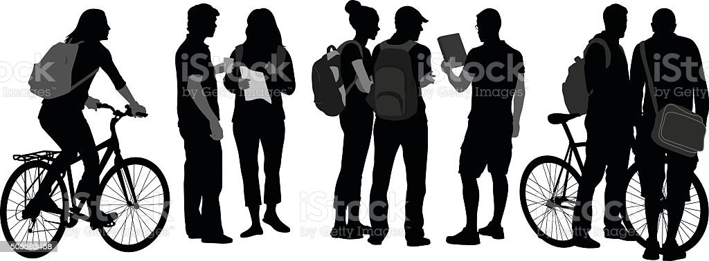 Student Transportation vector art illustration