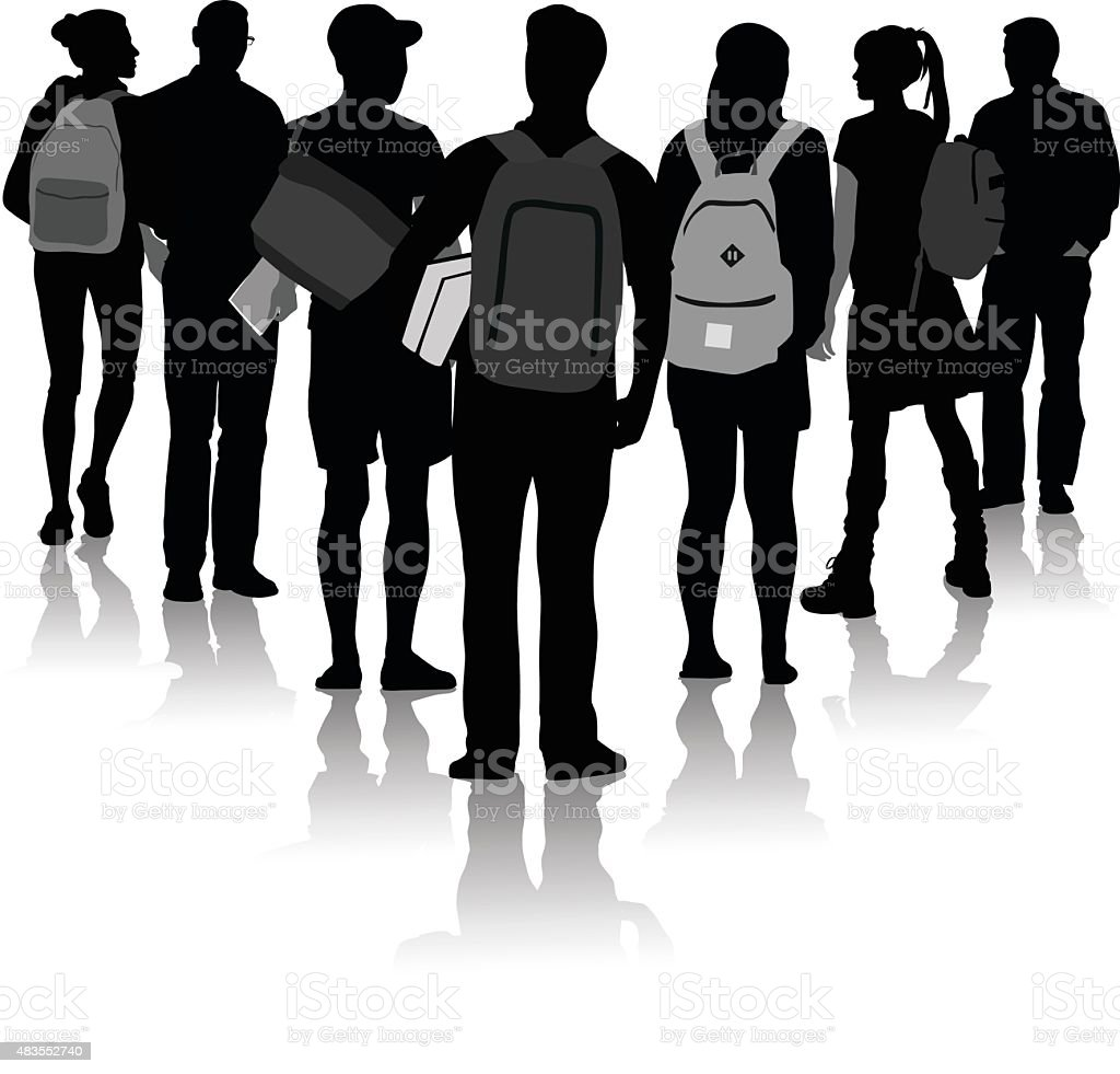 Student Triangle vector art illustration