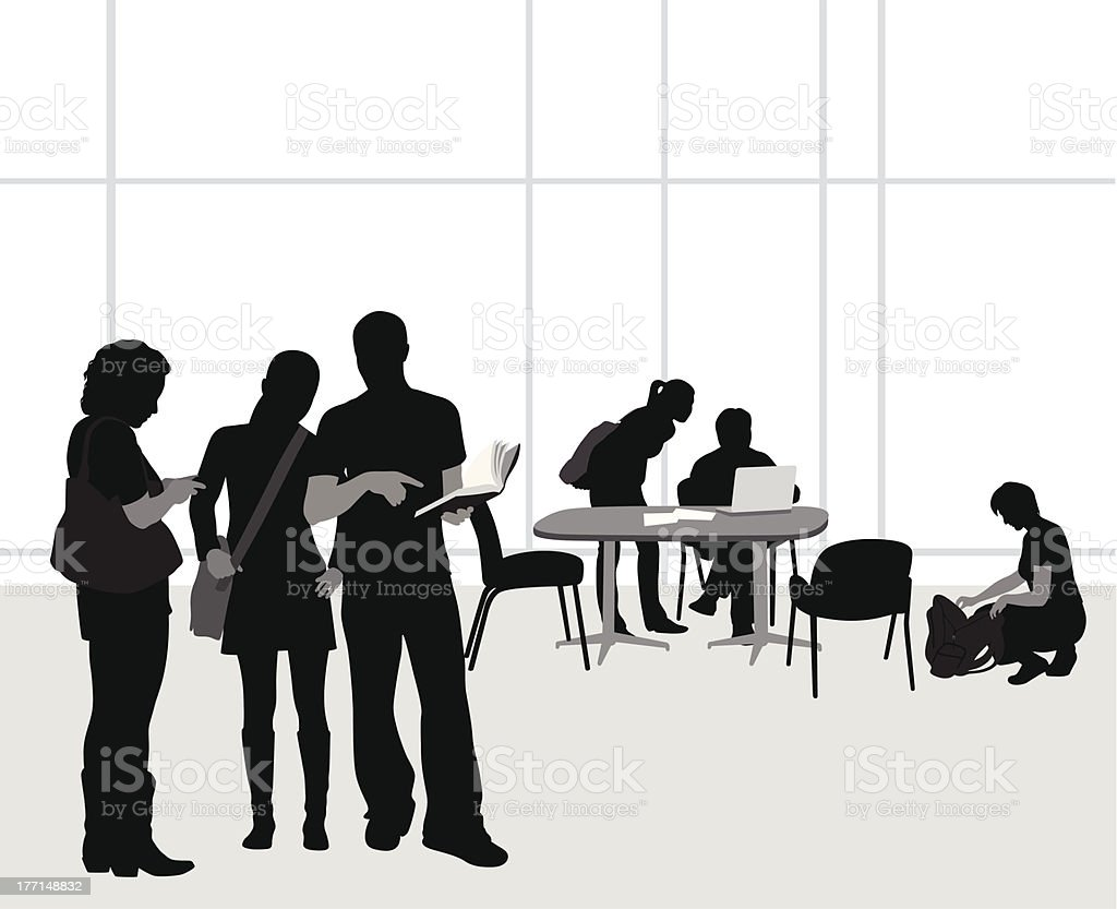 Students At Work royalty-free stock vector art