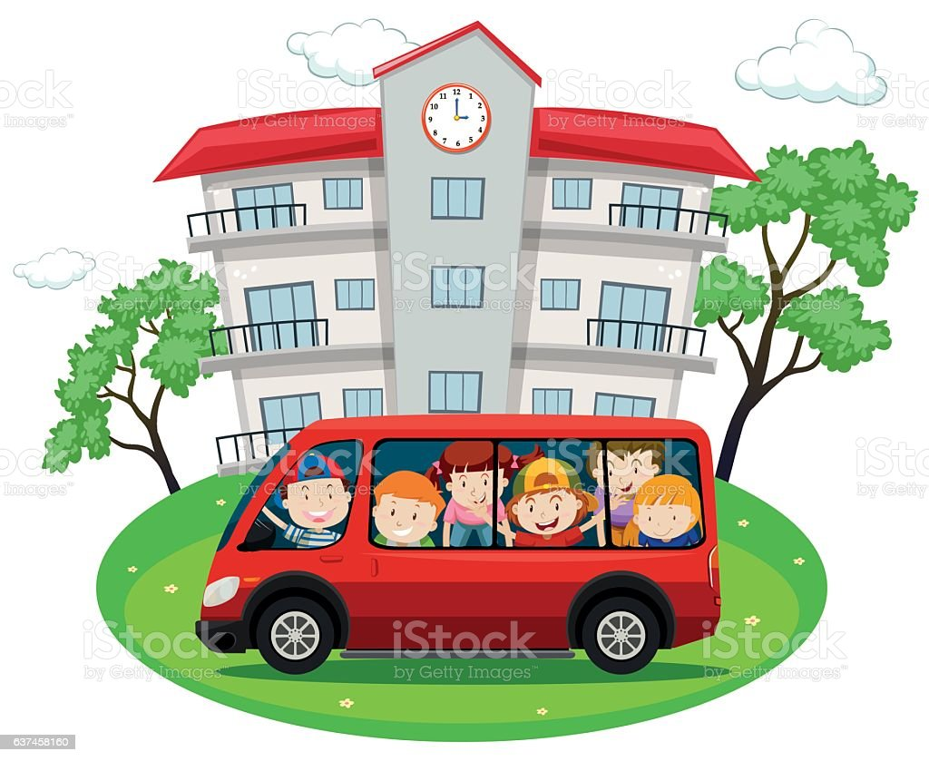 Image result for school van clip art