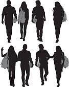 Student Raising Hand Silhouette Clip Art, Vector Images