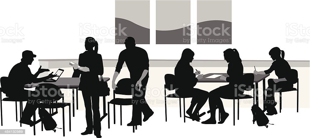 Students Working royalty-free stock vector art