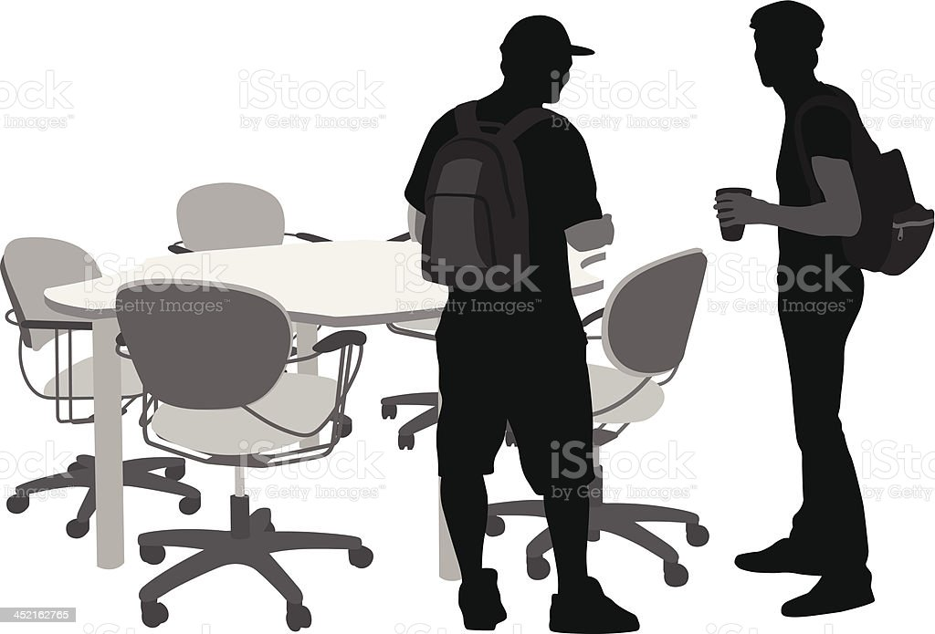 Students'n Table royalty-free stock vector art