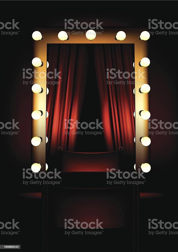 Studio Mirror royalty-free stock vector art