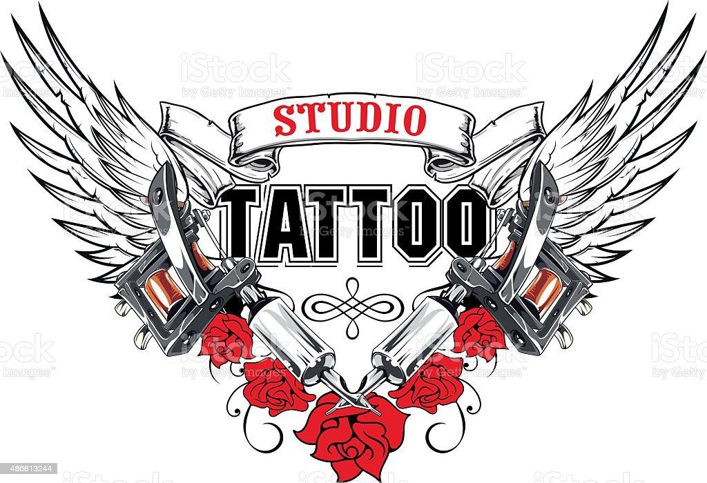 Studio Tattoo vector art illustration