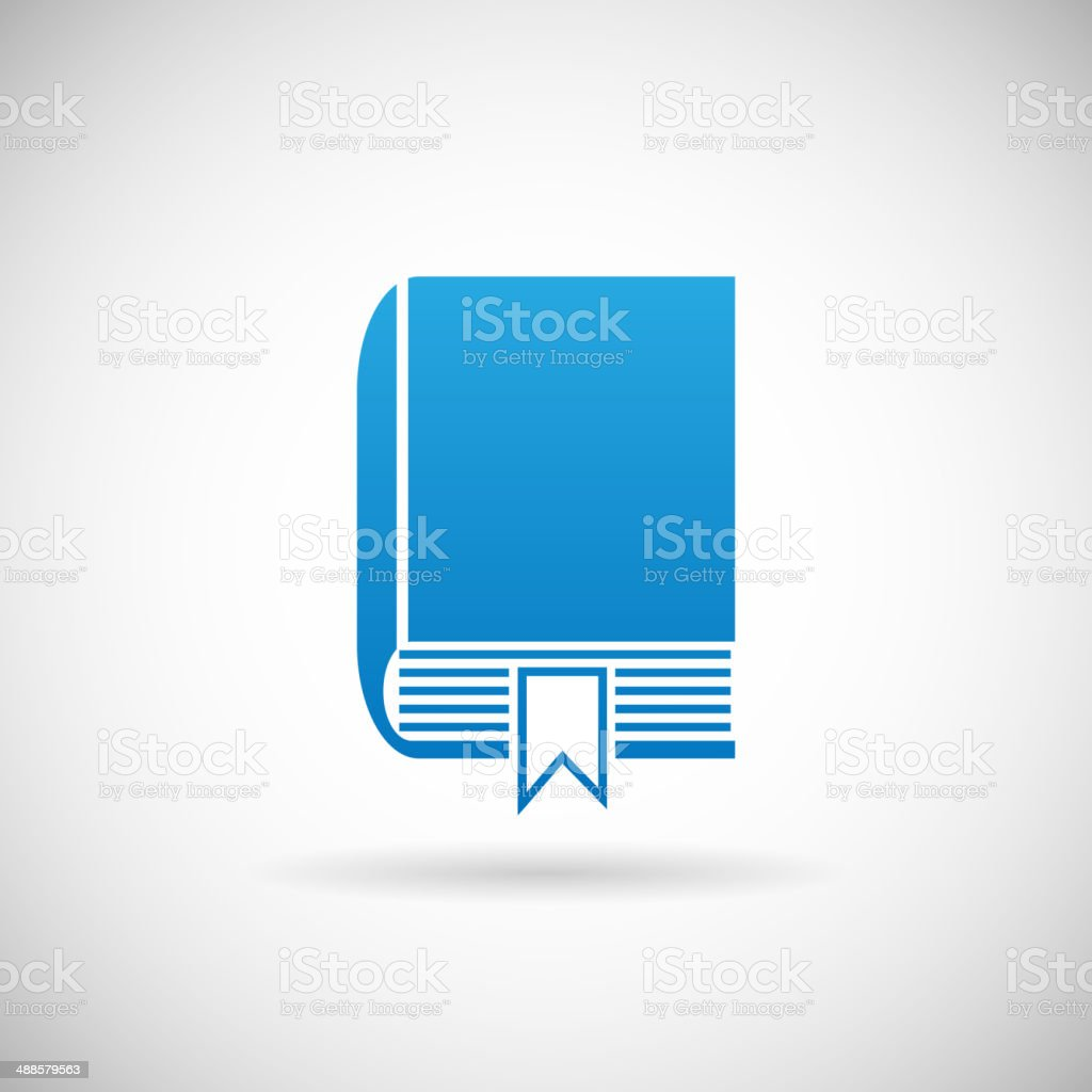 Study Bookmark Symbol Book Icon Design Template Vector Illustration vector art illustration