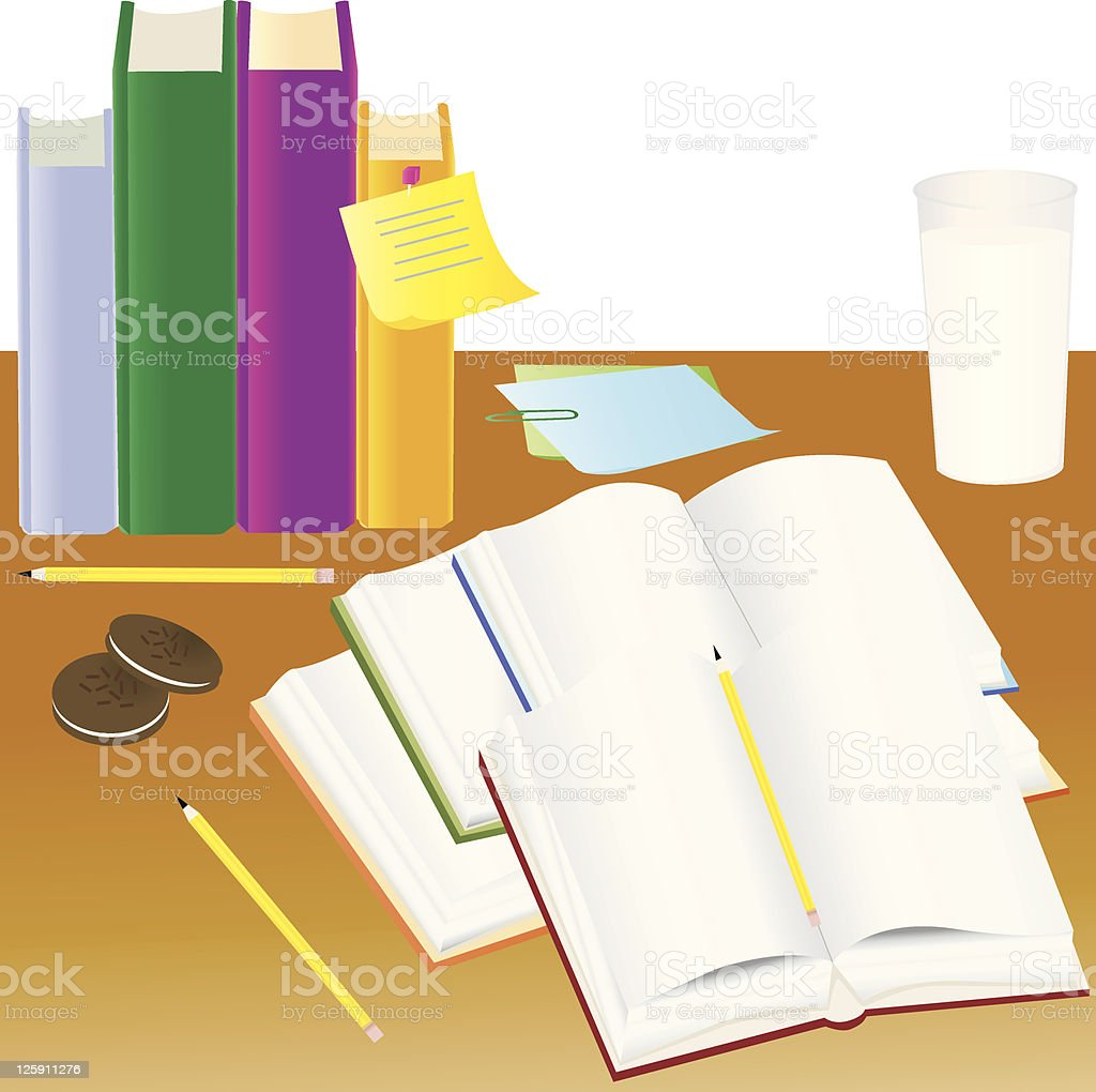 Study Session royalty-free stock vector art