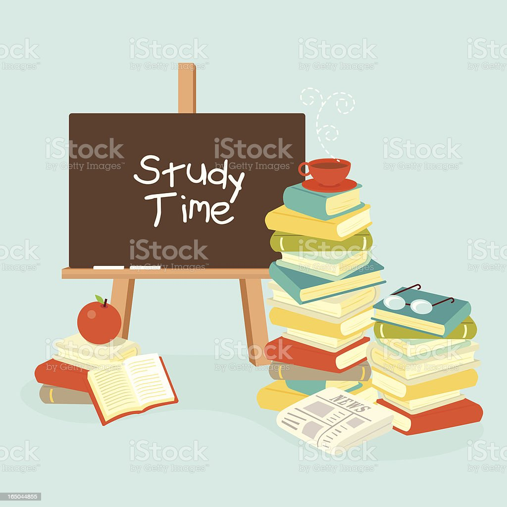 study time royalty-free stock vector art