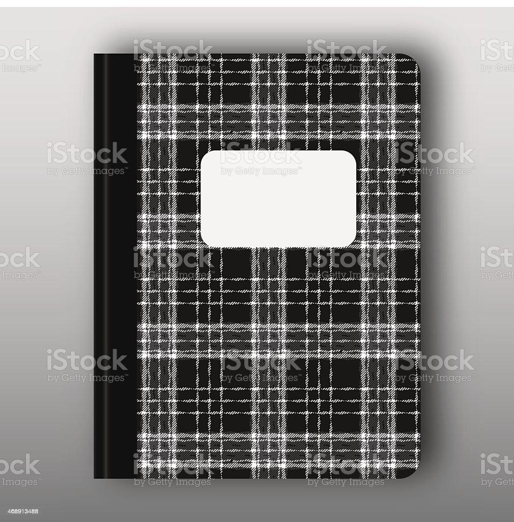 Study workbook cover B vector art illustration