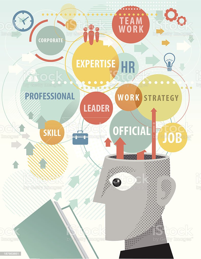 studying Corporate terms royalty-free stock vector art