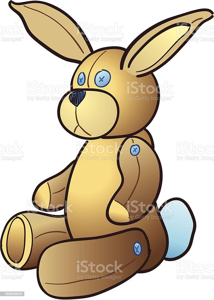Stuffed Bunny Rabbit vector art illustration