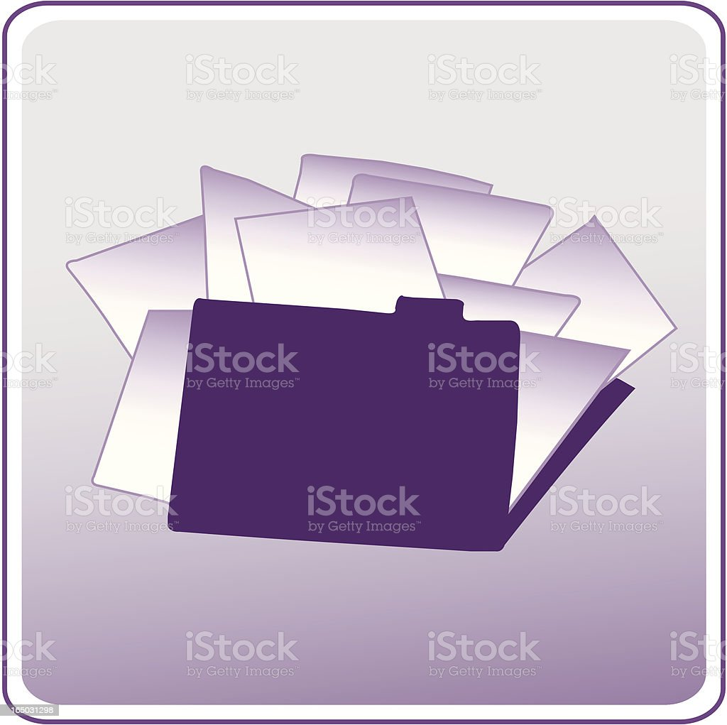 Stuffed File royalty-free stock vector art