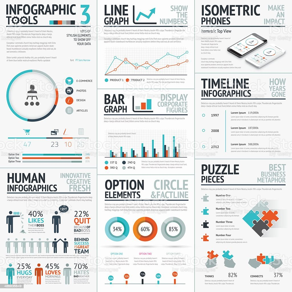 Stunning infographic elements vector set for your projects to impact vector art illustration