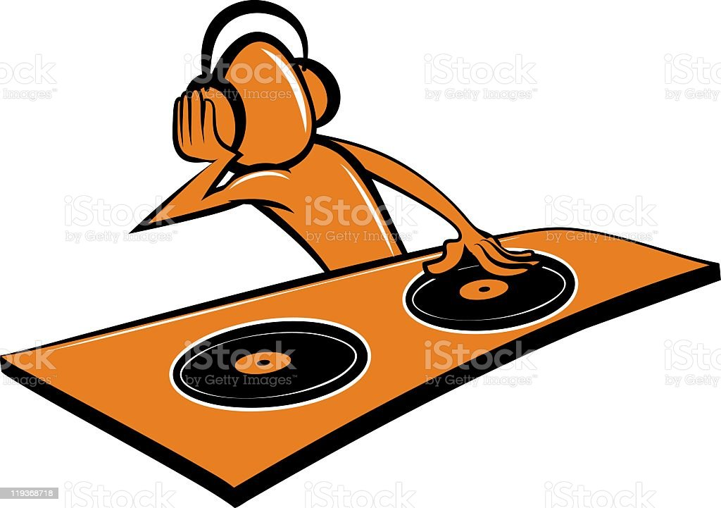 DJ stylised cartoon royalty-free stock vector art