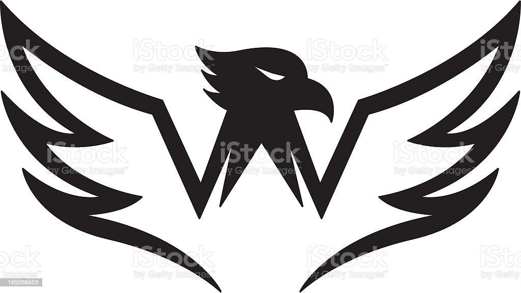 Stylised Eagle Logo royalty-free stock vector art