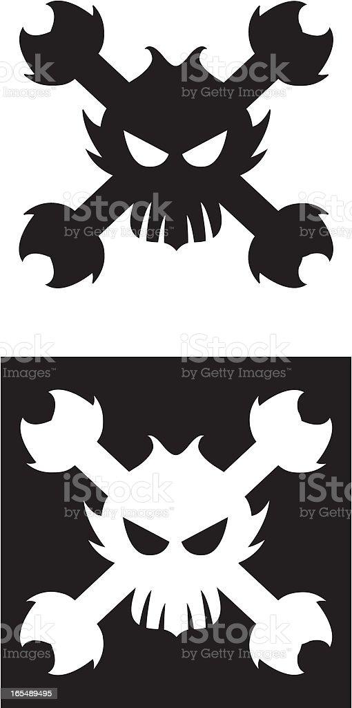 Stylised Skull & Crossbone Jolly Roger Icon royalty-free stock vector art