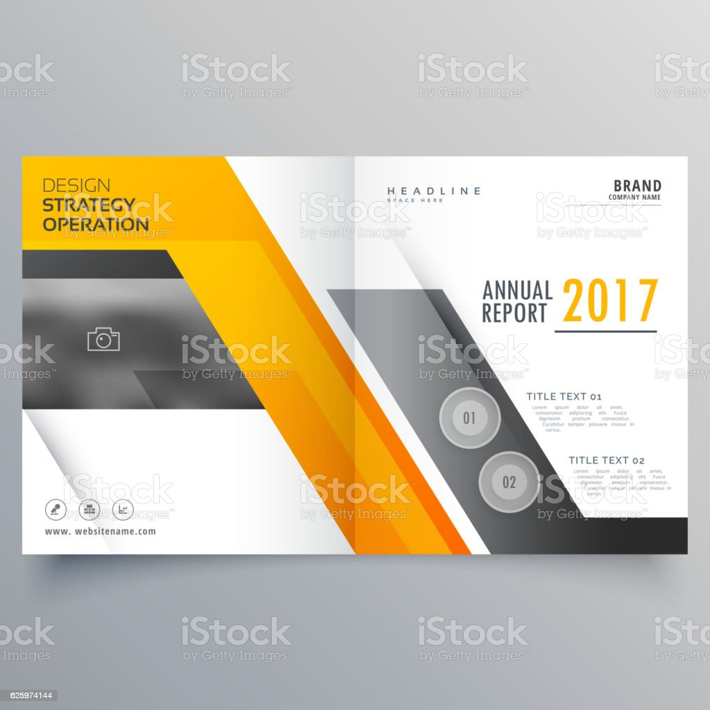 stylish bifold booklet template design cover page layout stock 1 credit