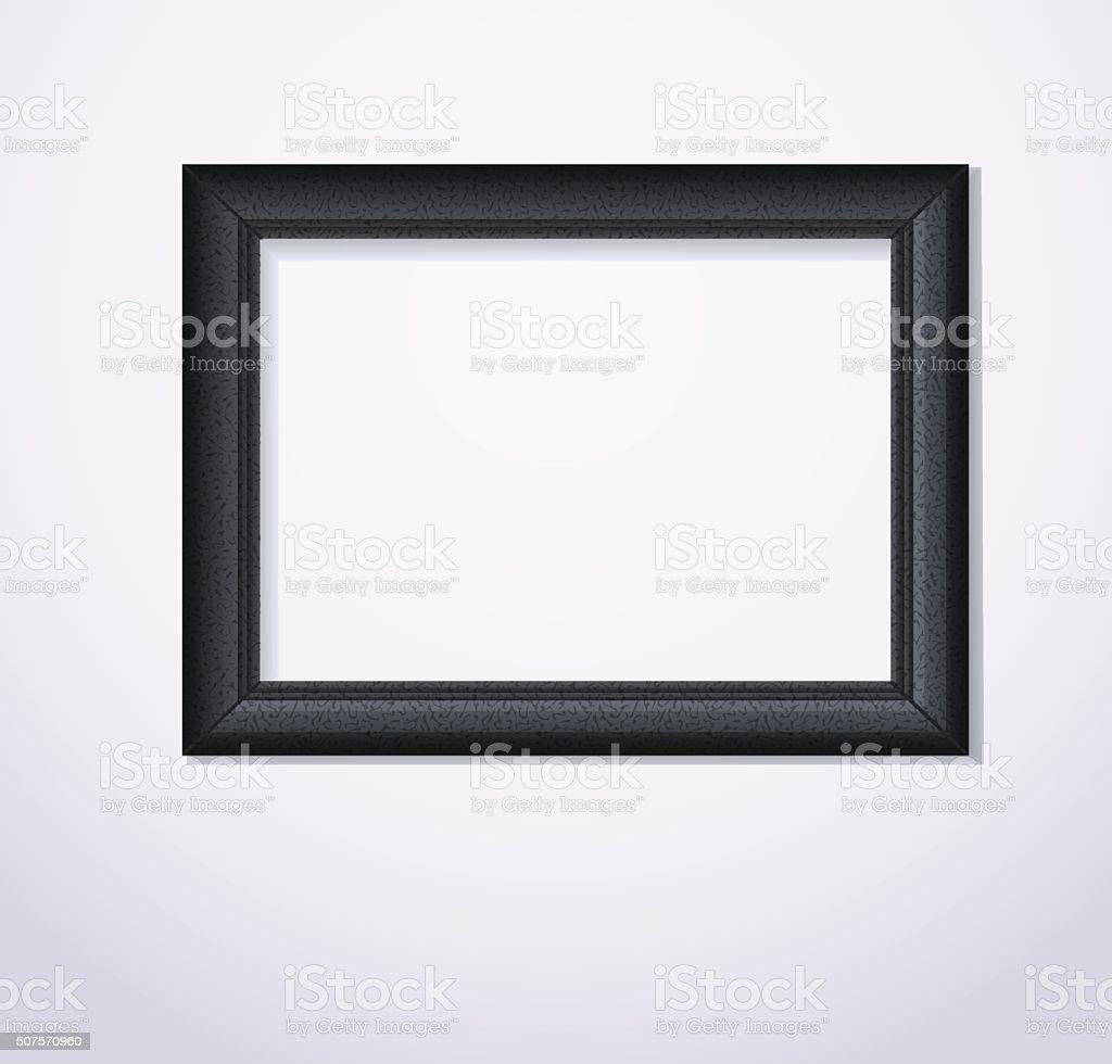 Stylish black photoframe. Vector illustration vector art illustration