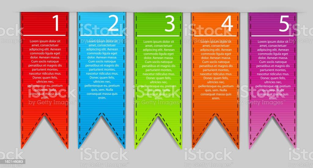 Stylish bookmarks. Vector royalty-free stock vector art