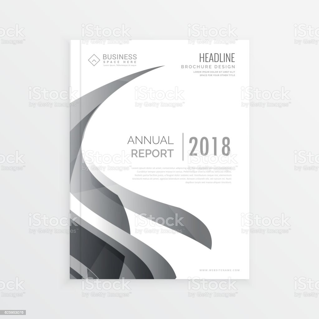 stylish business magazine cover page template for annual report 1 credit