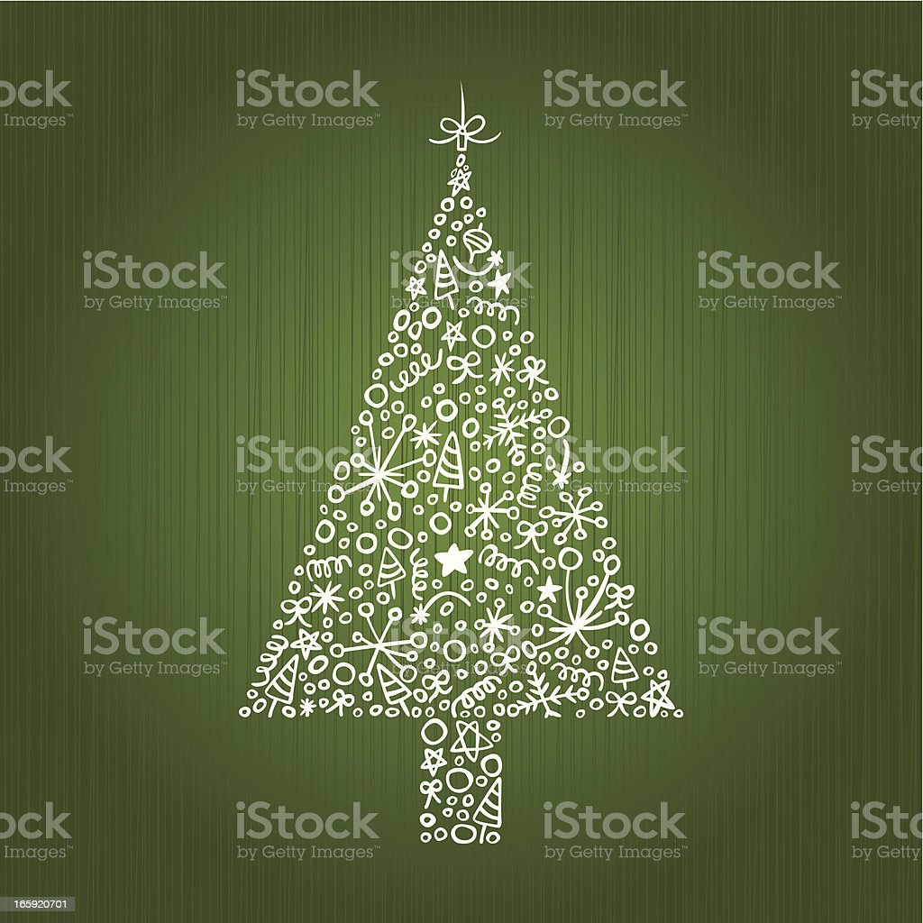 Stylish Christmas Decoration royalty-free stock vector art