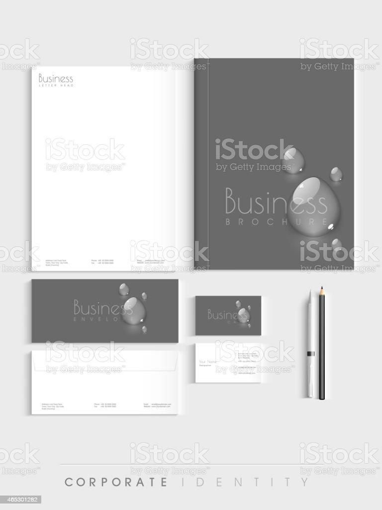 Stylish corporate business identity kit. vector art illustration