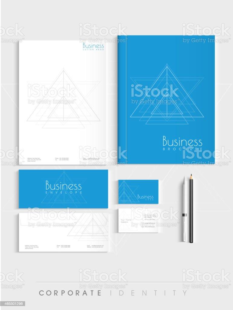 Stylish corporate identity kit. vector art illustration
