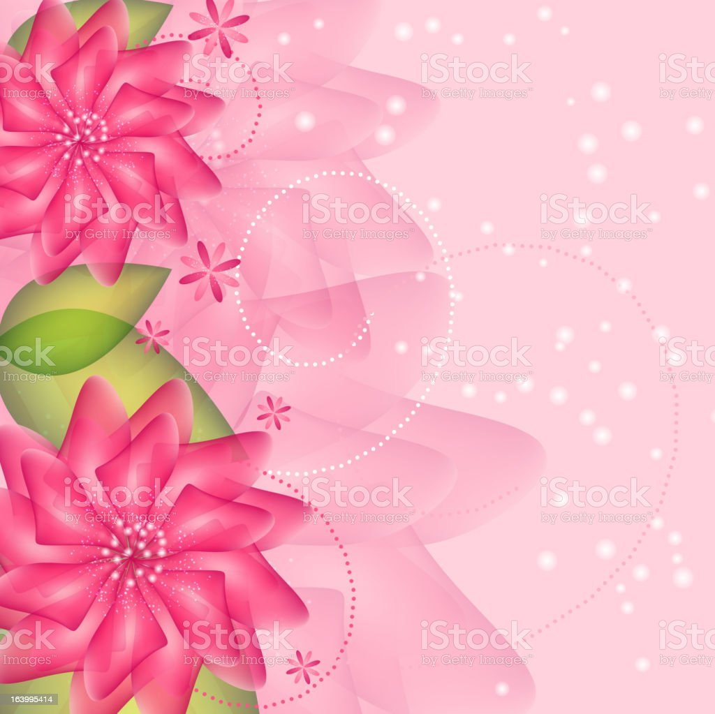 Stylish floral background vector illustration royalty-free stock vector art