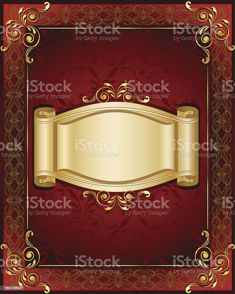 Stylish frame and banner royalty-free stock vector art