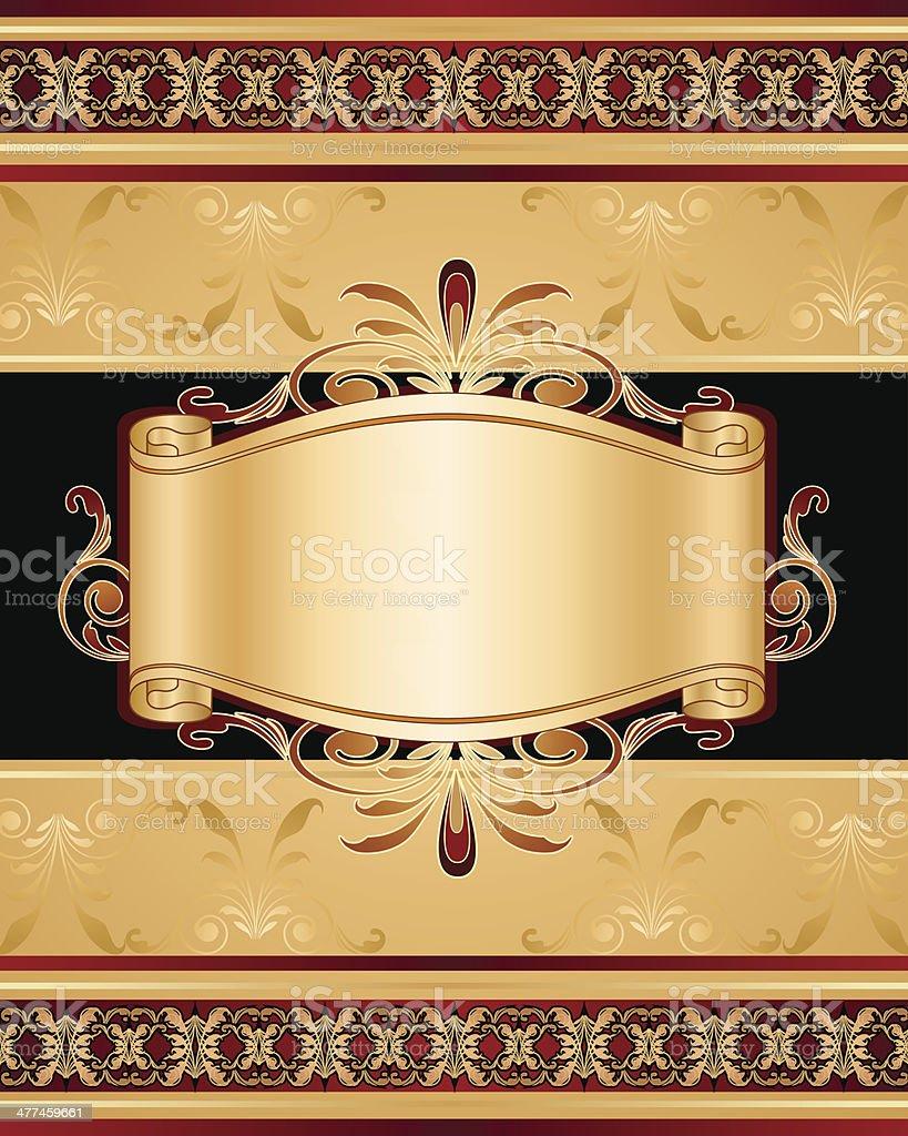 Stylish frame and banner vector art illustration