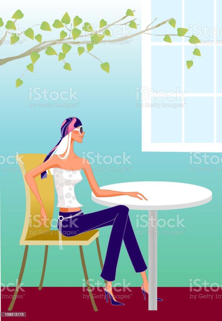 Stylish Girl royalty-free stock vector art