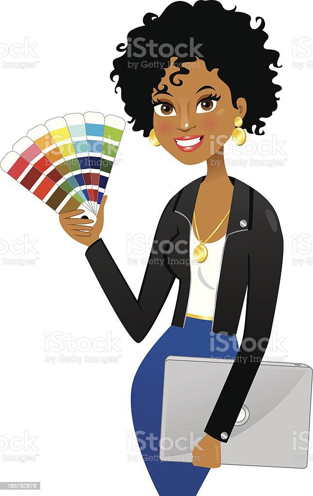 Stylish graphic or interior designer vector art illustration
