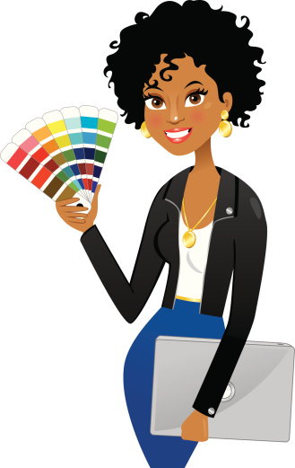 African woman clip art vector images illustrations istock for Interior design video clips