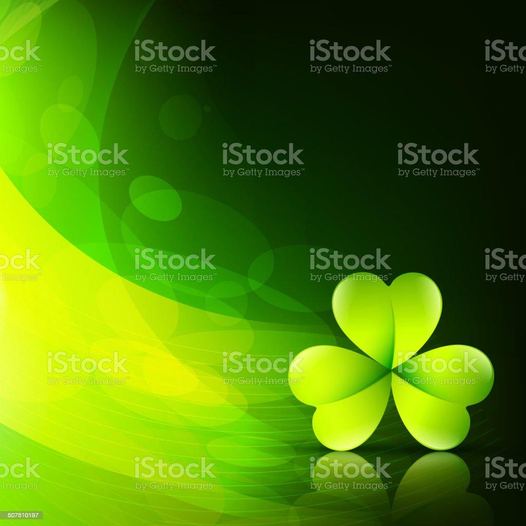 stylish green leaf vector art illustration