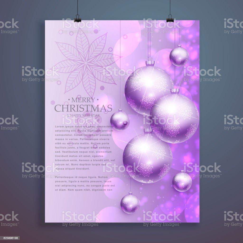 stylish merry christmas flyer design hanging shiny christma stylish merry christmas flyer design hanging shiny christma royalty stock vector art