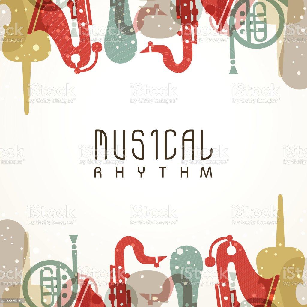 Stylish musical background. vector art illustration