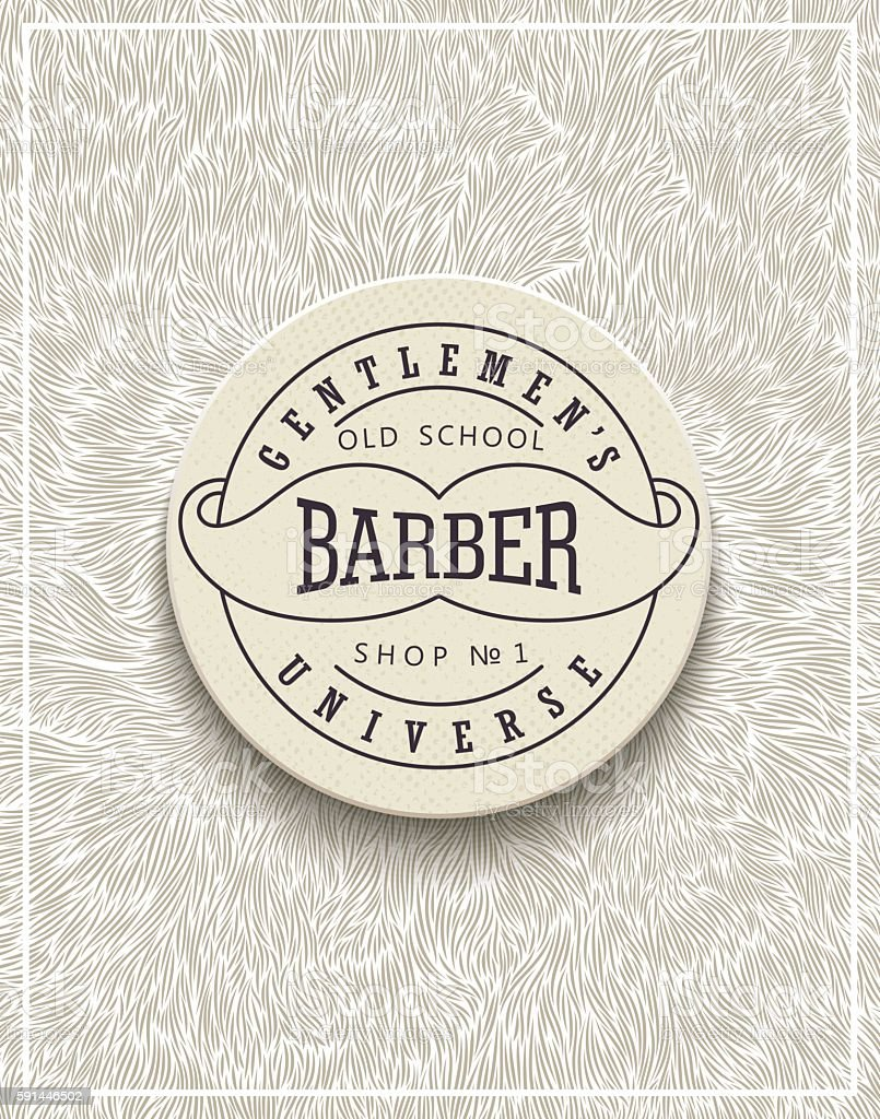 Stylish poster design for Barbershop vector art illustration