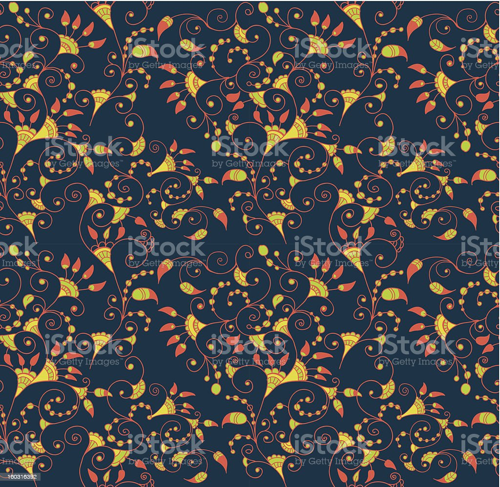 Stylish seamless floral background royalty-free stock vector art