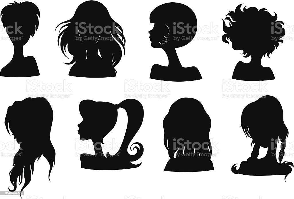Stylish silhouette royalty-free stock vector art