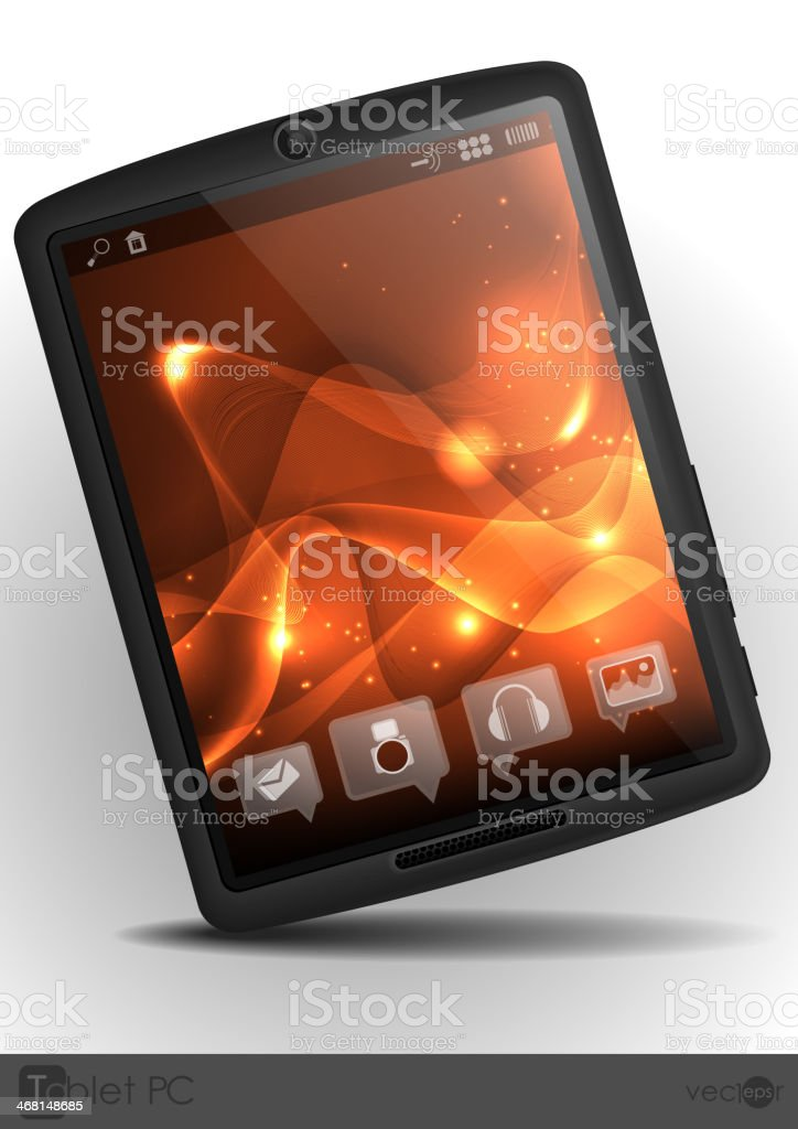 Stylish Tablet Computer. royalty-free stock vector art