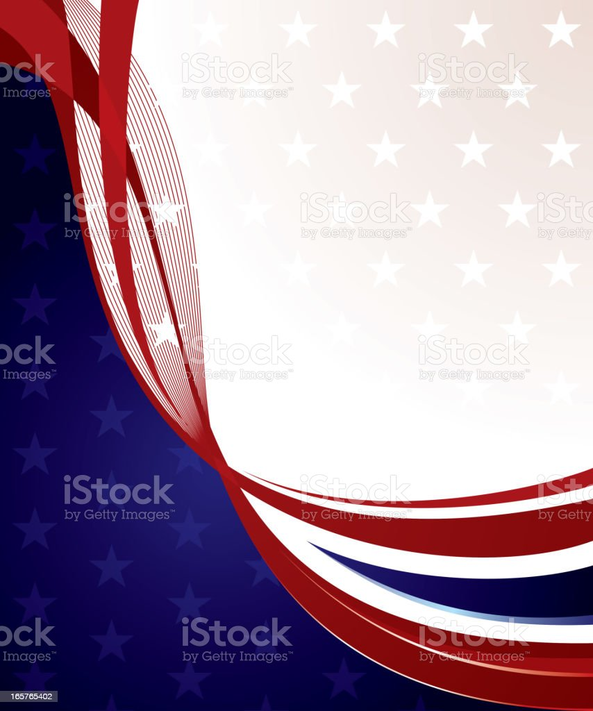 stylish US flag bg royalty-free stock vector art