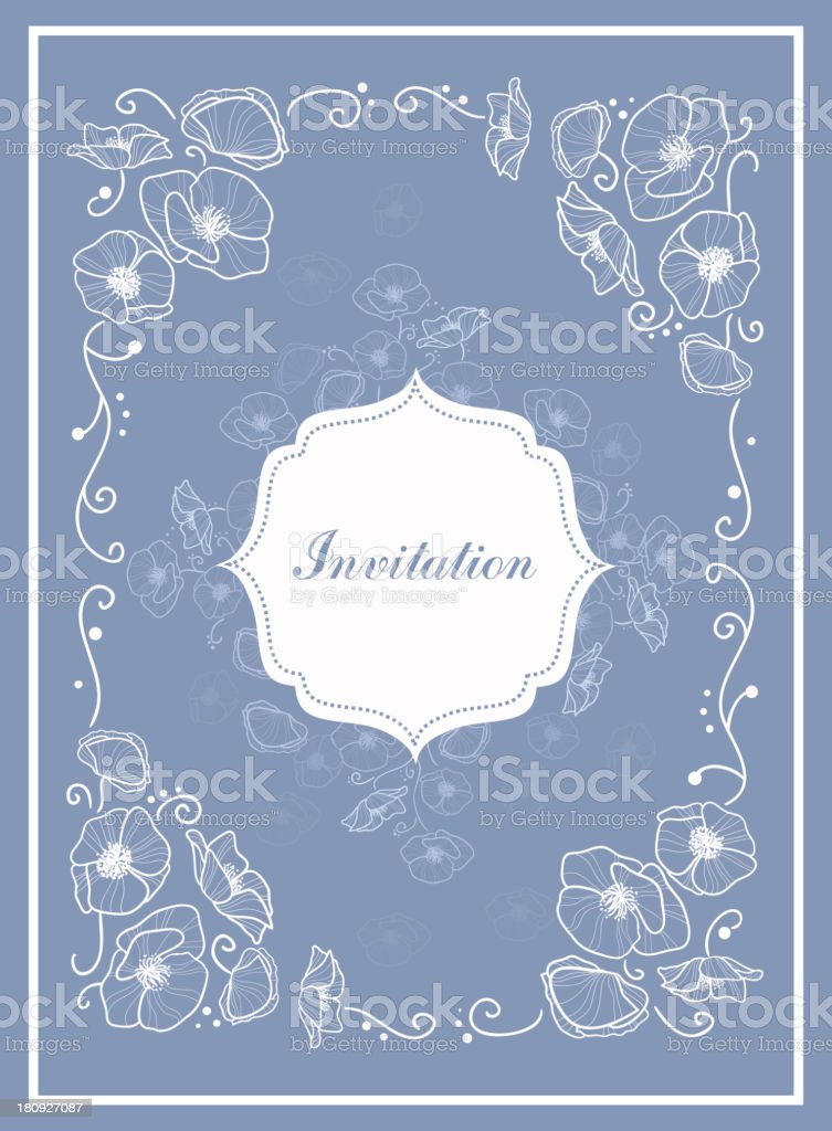 Stylish Vintage Invitation card royalty-free stock vector art