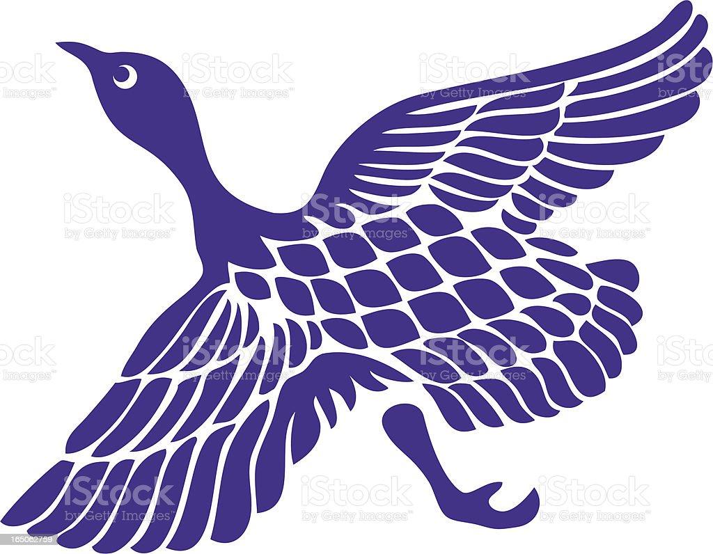 Stylish Wild Goose royalty-free stock vector art