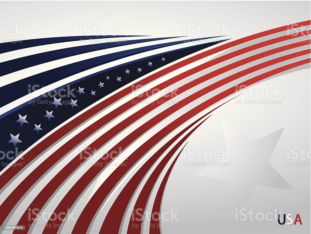 Stylized background USA patriotic design with lines vector art illustration