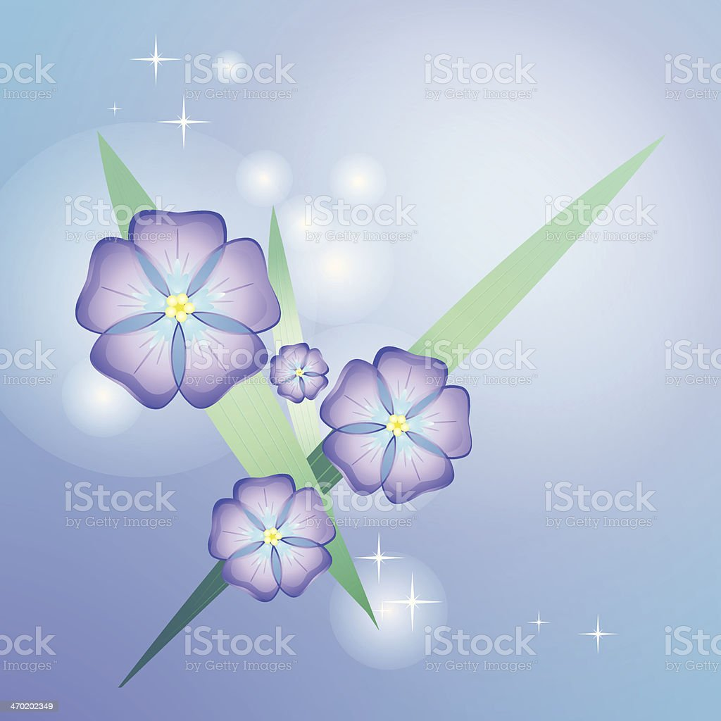 Stylized beautiful violet royalty-free stock vector art